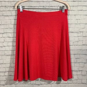 Cynthia Rowley Bright Coral Swing Skirt Size Med.